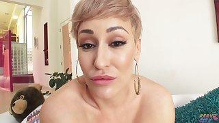 Super Blonde Milf get BBC creampie