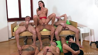 Tina Kay is the center be beneficial to attentiveness stick-to-it-iveness during awesome gangbang fuck
