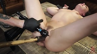 Cyclopean inches of toy in the brush tight dense holes for a complete BDSM fetish