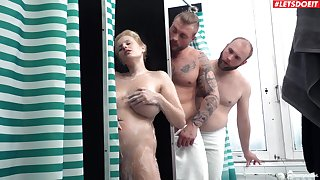 Insolent wife shared by duo blokes and jizzed in the first place those fine jugs