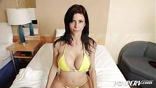 POVPERV Busty Alexis Fawx milks this hard cock