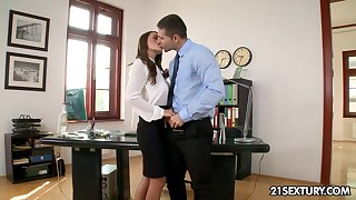 Dampness office sex with voracious Dominica Lito and Totti is must see