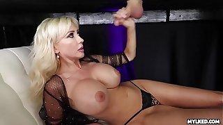 Jizz On Her Boobs - Big Titty Milf Milked His Cock