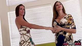 Sofie Marie And Ariella Ferrera - Lesbian Milfs Caught And Fucked In 3way