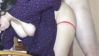 Mom gave son a blowjob and depth her ass for anal