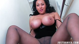 Hot Milf Joi.. Rejoice - Broad in the beam tits and pantyhose fetish