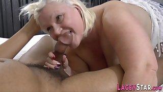 Busty Gran Lacey Starr Sucks Big Black Cock - Lacey starr