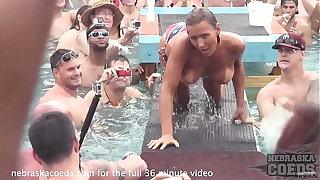 swinger pool party by way of nudist kirmess in florida