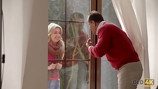 OLD4K. Hottie lovemaking of old and coed lovers culminates...