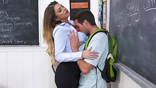Full-stacked teacher gets grinded throughout over