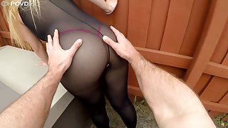 Bootyful babe in ripped bodysuit Serena Skye gets her hole fucked hard