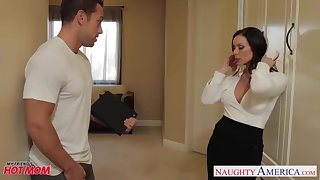 Huge-Chested jocular mater Kendra Avidity gets facial cumshot