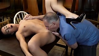 Old man fucks young explicit with small boobies 2