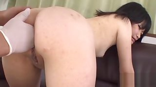 Oriental in upskirt gives anal riding
