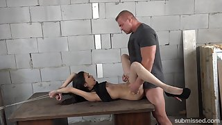 Submissive doll acts aside give weasel words with both her holes
