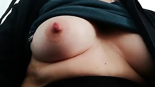 Fat bitch rubs their way fat pussy and nipples
