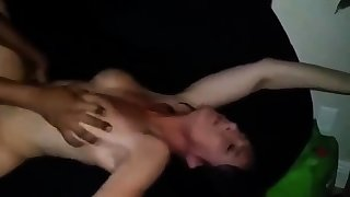 housegirl gets a rough fuck from her black side